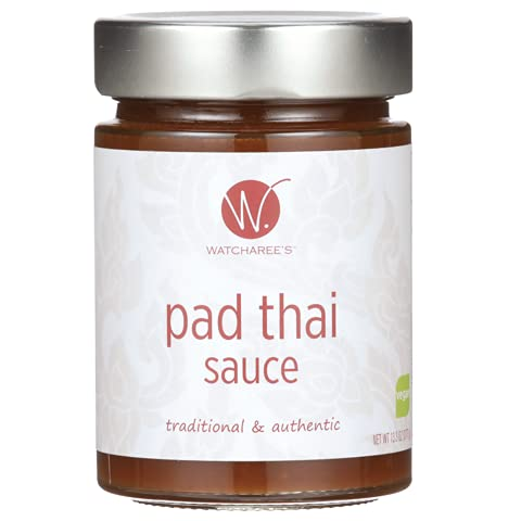 WATCHAREE'S Pad Thai Sauce | Vegan & Non-GMO | Authentic Traditional Thai Recipe | 13.3oz Jar (Pad Thai, 1 pack)
