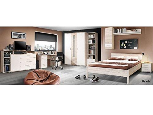 möbel-direkt Jugendzimmer Beach Komplett Verschiedene Ausführungen Kinderzimmer (Jugendzimmer Beach 8 TLG. mit 140er Bett)
