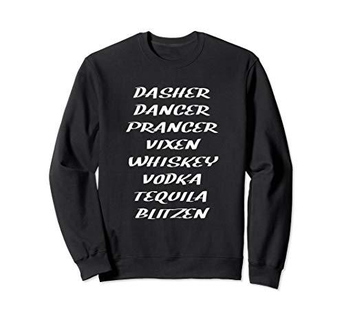 Whiskey Vodka Tequila Santa's Reindeer Christmas Drinking Sweatshirt