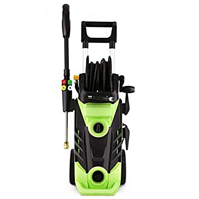 3500 PSI Electric Pressure Washer, 1800W Power Professional Household Washer Cleaner Cleaning Machine with Wire Barrel for Vehicle, Home, Garden from huaer