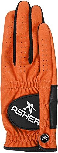 Asher CHUCK ORANGE M Damen Golfhandschuh RH (für Linkshänder) (RH-Handschuh für die rechte Hand - für Linkshänder)