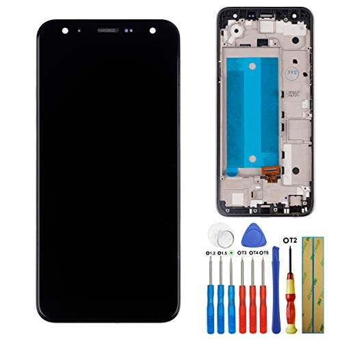 E-YIIVIIL - Pantalla LCD táctil compatible con LG K40 LMX420 LMX420EMW LM-X420 de 5,7