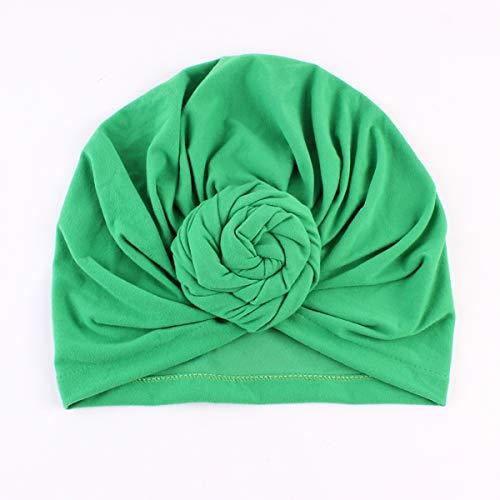 Borlai baby meisjes turban hoed elegante zachte katoen muts hoed knoop cap één maat