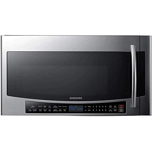 Samsung MC17J8000CS 1.7 Cu Ft. 950 Watt Over the Range Convection Microwave Oven with Slim Fry Technology, Stainless Steel (Certified Refurbished)