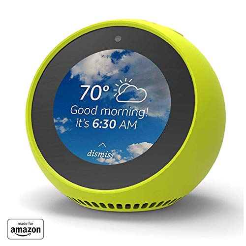 """Made for Amazon"" Mission Cables Skin for Echo Spot - Neon Yellow"