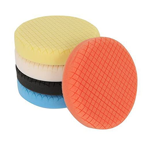 Floatdream 5 Piezas Esponja de Coche, Almohadilla para Pulir con Esponja, Almohadilla para Pulir Coche, para Pulidoras de Automóviles (Cinco Colores)