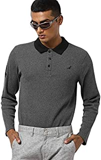AMERICAN CREW Men's Polo Collar Full Sleeves T-Shirt
