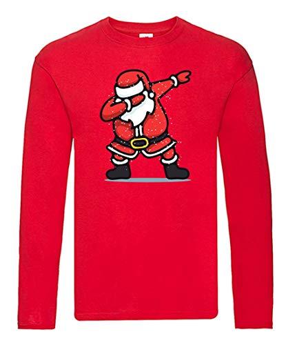 Camiseta de manga larga con diseño de Papá Noel y bailarinas (unisex,...