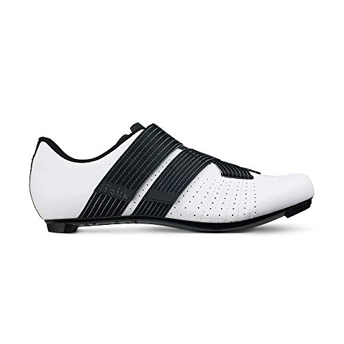 Fizik Tempo R5 Powerstrap Cycling Shoe, White/Black - 44, White/Black
