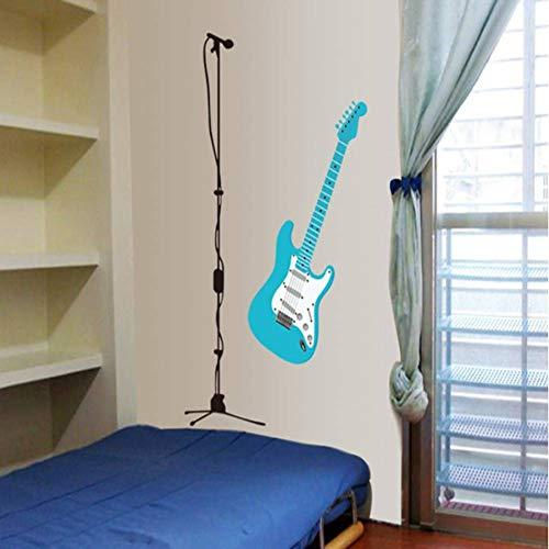 VIOYO cartoon gitaar microfoon woonkamer slaapkamer huisdecoratie muurstickers in de muur te plakken op de muur