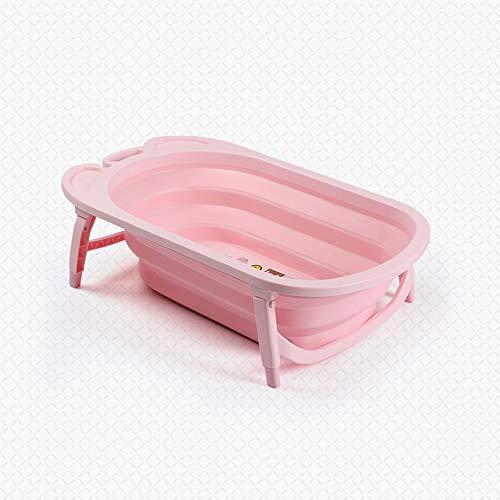ZZHK Babybad, opblaasbaar kinderbad, douchecabine voor baby, temperatuurdetectie groot bad, niet-slip plastic verdikking, stuur een wegwerp badzak