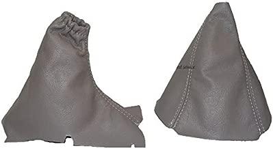 The Tuning-Shop Ltd For Volvo S60 2000-07 Gear & Handbrake Gaiter Grey Leather