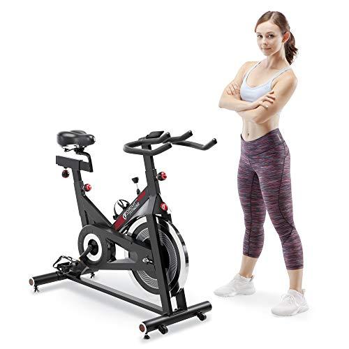 Circuit Fitness Club 30 lbs. Flywheel Revolution Cycle for Cardio Workout – Adjustable Manual Resistance Mechanism – AMZ-948BK