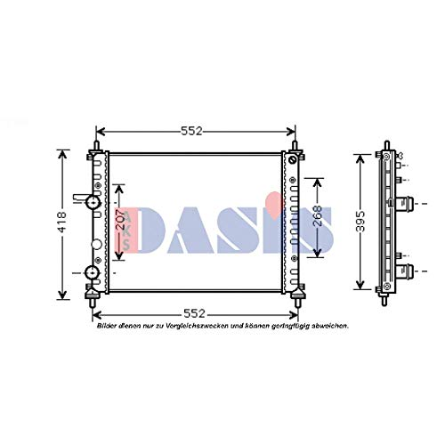 AKS Dasis 080091N - Radiatore, Raffreddamento Motore