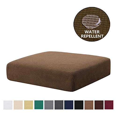 NC HOME Water-Repellent Couch Cushion Slipcovers, High Stretch Elastic Anti- Slip Spandex Universal Sofa Cover Furniture Protector (Sofa Cushion, Coffee)