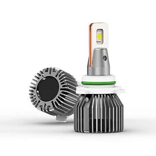 9006 HB4 LED Headlight Bulb,Aukee 100w Alta Potencia 13,000lm Extremadamente Brillante 6000k Blanco Fresco Csp Chips Kit De Conversión Haz Ajustable-6000k 2 lámparas 9006 hb4