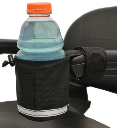 Diestco Unbreakable Cupholder With Front Mount | Attaches Easily To Armrests on Scooters, Power Chairs, and Office Chairs