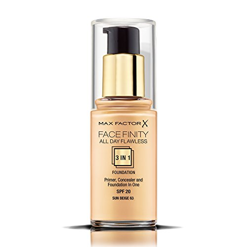 Max Factor Face Finity All Day Flawless 3 in 1 Foundation 30ml - 63 Sun Beige