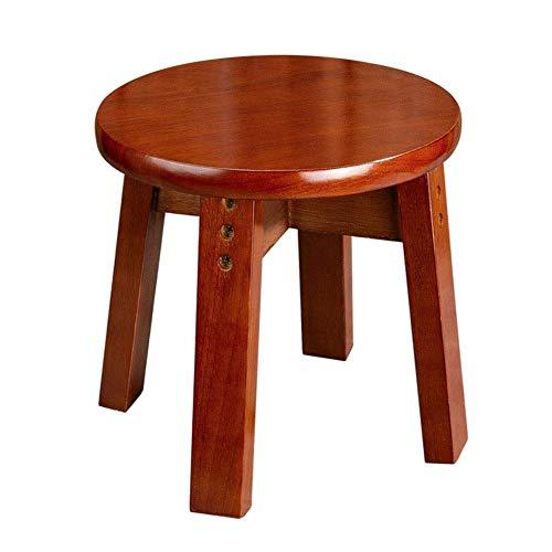 Barkruk kleine bijzettafel rustiek massief houten meubels tijdoude stijl kruk woonkamer kamerplant ronde lamp telefoon retro enkele standaard