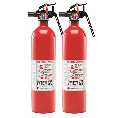 Kidde Multipurpose Fire Extinguishers, 2 Pack, Red