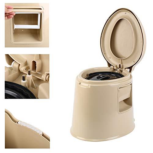 MuGuang Camping Toilette Voyage Portable Toilette Antidérapant avec Seau Intérieur Creux pour Voyages, Camping, Randonnées, Pique-Nique, Hôpital, Plein Air
