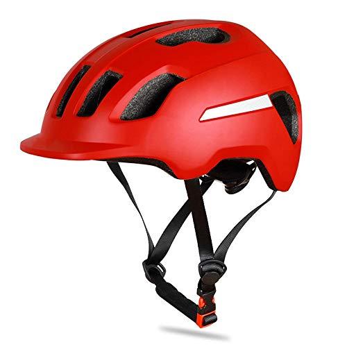 SFBBBO Casco Bicicleta Casco de Bicicleta Gorra de Seguridad para Bicicleta eléctrica Ajustable Ultraligera MTB Mountain Road Rojo