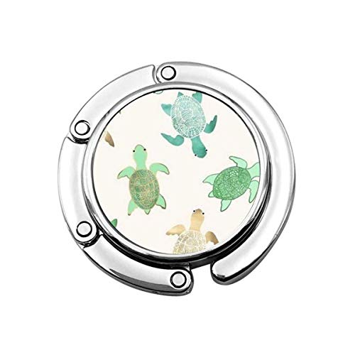 Geldbörse Hook Turtle White Print Charm Geldbörse Handtasche Tisch Schreibtisch Tasche Haken - Hakenhalter