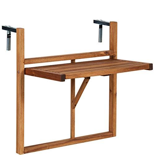 Butlers Lodge Balkonhängetisch Weiß - Klappbarer Hängetisch aus FSC-Holz - Kleiner Balkontisch, Klapptisch, Wandtisch