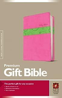Premium Gift Bible NLT, TuTone (Red Letter, LeatherLike, Bubble Gum/Pistachio)