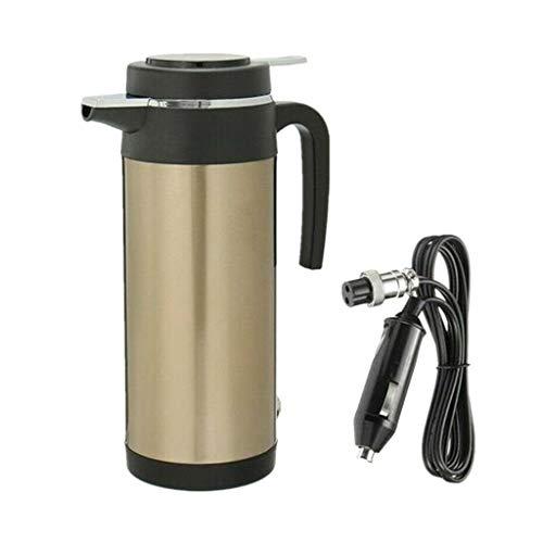 Amuzocity Calentador de Caldera Cafetera Eléctrica Tetera Botella de Agua Caliente 1200ml - tal como se describe, 24V
