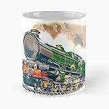 Allbirds Plate Wonderful Spotter Gwr Flyer Railway Boiler Steam Taza de café con Leche 11 oz
