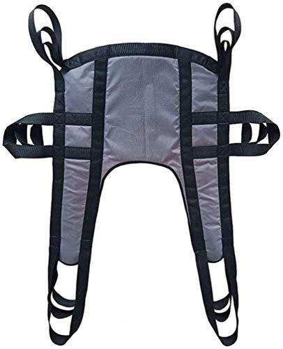 Eslinga de aseo para pacientes, resistente, cinturón de transferencia de cuerpo completo con soporte de cuatro puntos para personas con discapacidad en cama (color: A)