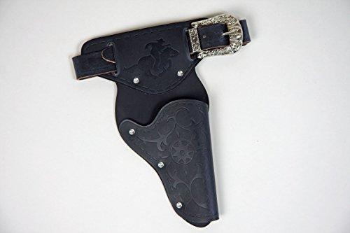 Coltgürtel schwarz, 1 Tasche, ca. 120 cm