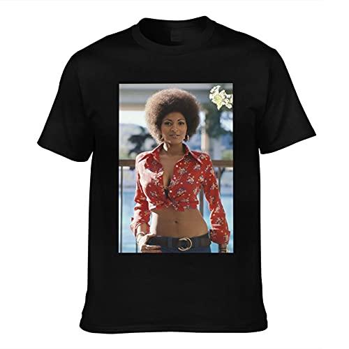Pam Grier Men's Classic Comfort Soft Regular Fit Short Sleeve T-Shirt Black Xx-Large