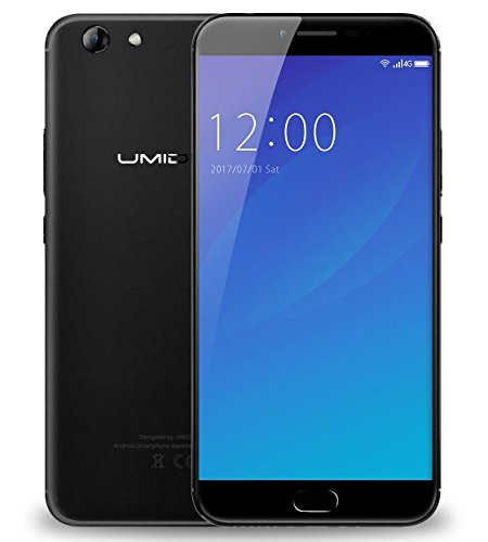 UMIDIGI C NOTE 2 - 5.5 pulgadas FHD Gorilla de cristal 4 pantalla Smartphone, 4GB + 64GB Octa Core 1.5GHz, UMI OS (Android 7.0), 5MP + 13MP 4000mAh Batería - Negro