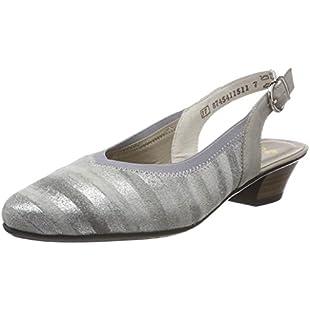 Rieker Women's 58063 Sling Back Heels, Grey (Grau-Metallic/Nebbia 90), 7.5 UK 7.5 UK