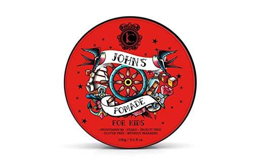 Johns Haargel Kinder Haar Styling Pomade - Starkes Haar Wax für Jungen und Mädchen Haarpflege - Grün Apfel Haar Clay Pomade Bestes Geschenke für Jugendliche 150 ml