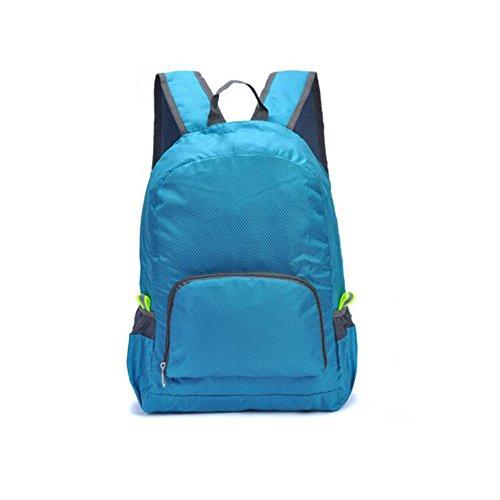 HONEY Bergsteigertasche Im Freien Reisen Sehr Leicht Männer und Frauen Kinder Rucksack Wasserdicht Student Skin-Paket (Farbe : Azure)