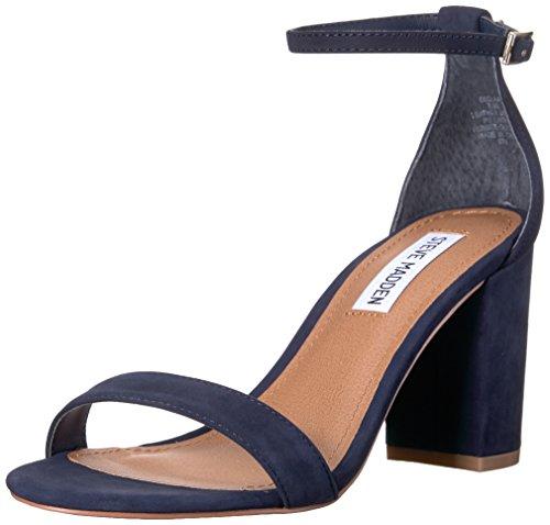 Steve Madden Women's Declair Dress Sandal, Navy Nubuck, 5.5 M US