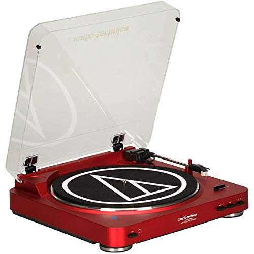 Audio-Technica AT-LP60-BT Automatic Bluetooth Belt-Drive Stereo Turntable - Red