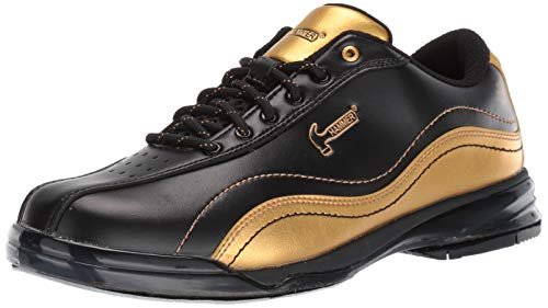 Hammer Bowling Products Mens Black Widow Gold Performance Bowling Shoes- Right Hand 9 1/2, Black/Gold, 9.5