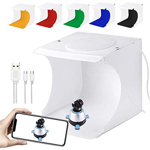 SLOW DOLPHIN Portable Photo Studio Box for Jewellery and Small Items Portable Folding Photography...