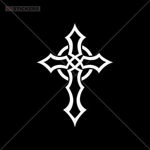 Decoration Vinyl Stickers Celtic Cross Decoration vinyl (8 X 5,86 In. ) Vinyl color White