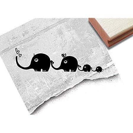 Stempel Kinderstempel Motiv Elefant Mit Familie Bildstempel Geschenk Fur Kinder Kita Schule Einschulung Basteln Deko Von Zacher Finet Amazon De Kuche Haushalt
