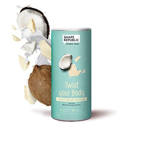 Shape Republic Whey Isolat Protein White Chocolate & Coco (420g), Eiweißpulver zum nachhaltigen Muskelaufbau