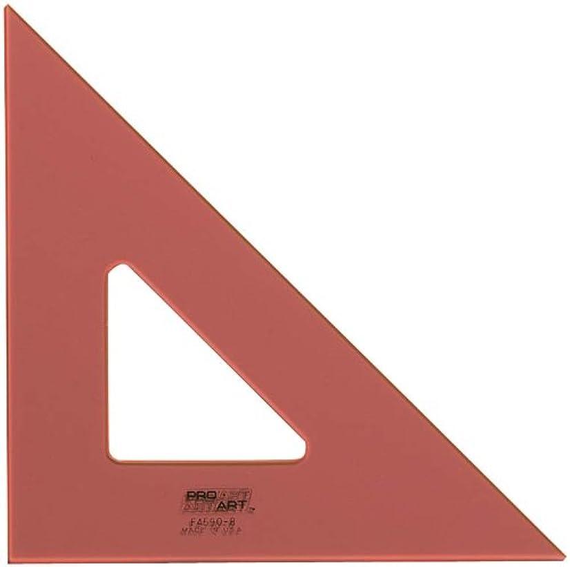 PRO ART 12-Inch 45/90-Degree Triangle, Fluorescent