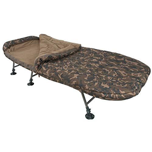 Fox R Series Camo Sleep System 212x98cm - Karpfenliege zum Angeln auf Karpfen, Angelliege zum Karpfenangeln & Wallerangeln