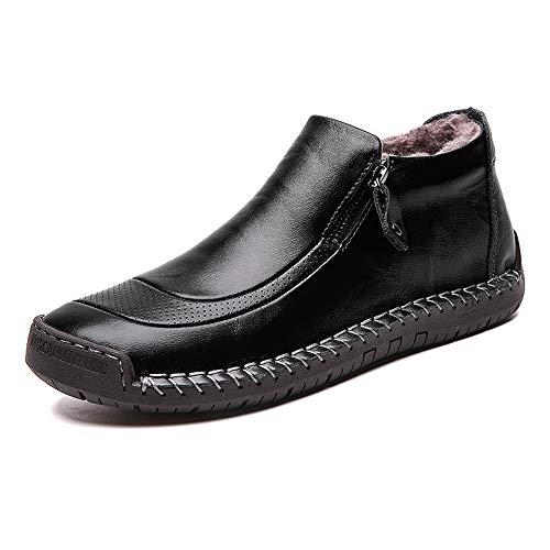 LIEBE723 Botas Retro para Hombres Zapatos de Hombre Antideslizantes Zapatos de Conducir