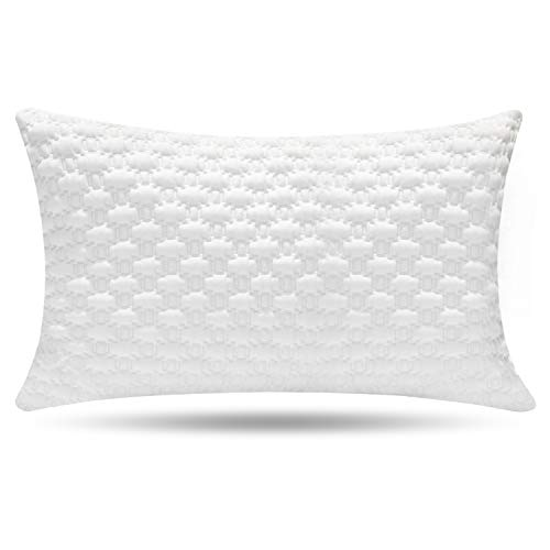 Milemont Shredded Memory Foam Pillow, Bed Pillows, Pillow for Sleeping – Support Side Back Stomach Sleepers, CertiPUR-US , Queen