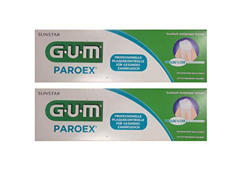 2x GUM Paroex Chlorhexidin Gel Zahnpasta 0.12% 75ml PZN 00024012